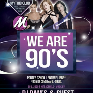 Flyer WE ARE 90's
