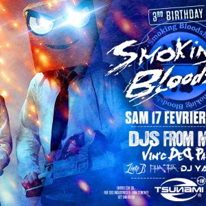 Flyer Smoking Bloodshed w/ Djs From Mars (IT) - 3rd Birthday