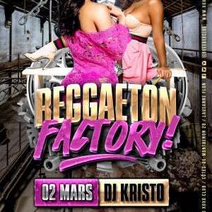 Flyer Reggaeton Factory 2nd Floor