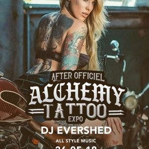 Flyer After Officiel Alchemy Tattoo Expo